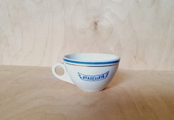 Antik pajzspecsétes Zsolnay porcelán utasellátó csésze