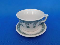 Zsolnay  ANTIK  teás , forró csokis , csésze  + alj 1880 évek