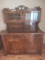 Biedermeier diófa szekrény felújított állapotban (komód, tálaló)