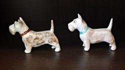 2 db. Aquincumi porcelán kutya. Terrier. Foxi.