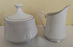 Porcelán cukortartó és tejkiöntő