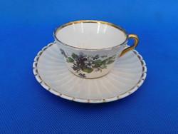 Zsolnay  ANTIK  teás csésze + alj 1880 évek