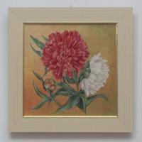 Olaj vászon festmény, virágok