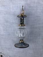 Gyönyörű, lehelet vékony kézzel készült aranyozott parfümös üveg