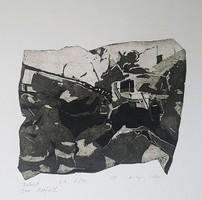 Kőszeghy Csilla - Baleset 14 x 18 cm rézkarc