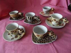 Állat forma mokkás csészék