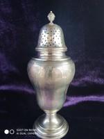 Antik ezüst 800-as (Hanau) nagyméretű só-  vagy cukorszóró
