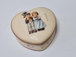 Hummel Goebel #2152 Hochzeit Szív alakú jegygyűrűtartó / bonbonier