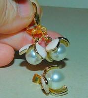 Shell Pearl Gyöngy Virág Arany Gold Filled Ékszer Szett