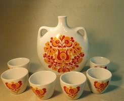Alföldi porcelán italos készlet