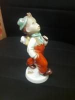 Royal dux porcelán fiú