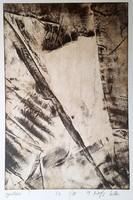 Kőszeghy Csilla - Gyűrődések 30 x 20 cm rézkarc