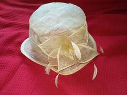 Vintage stílusú masnis kalap női kiegészítő antique hat