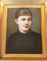 170-190 éves alkotás!!! Ismeretlen festőművész – Váradi Szakál Antónia portré festménye – 198.