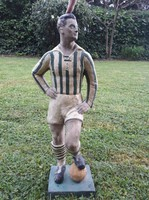 Focista kerámia szobor Fradi szurkolóknak! Különleges ritkaság!