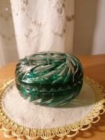 Zöld-fehér kristáy bonbonier