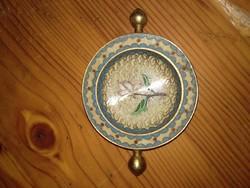 Kínai? tűzzománc kézi hamuzó hamutartó régi keleti réz hamutál fire enamel copper