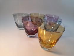 Színes likőrös pohár készlet