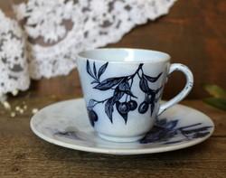 Longwy Fleurs francia fajansz teás szett