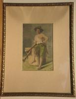 Kassai Nándor (1860-1929) : Olasz dudás fiú