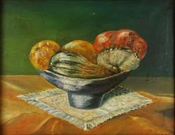 1E897 Magyar festő XX. század : Asztali csendélet