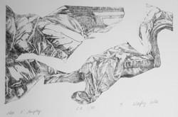 Kőszeghy Csilla - Miss O'Murphy 18 x 29 cm rézkarc