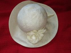 Régi vintage virágos kalap női kiegészítő antique hat