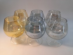 Színes konyakos pohár szett