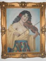 "Antik festmény "" Cinka Panna """