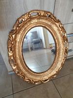 Ovális tükör aranyozott blondel képkeretben eladó!