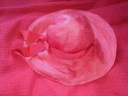 Bermona Trend régi vintage vörös masnis kalap női kiegészítő antique hat