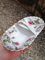 Lengyel rózsás porcelán asztali só-bors tartó