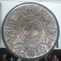 Közel Keleti Kézműves Nagy Fém Ón Tál, Asztalközép.Tányér. 72 cm.