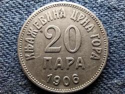 Montenegró I. Miklós (1860-1918) 20 para 1906 (id52284)