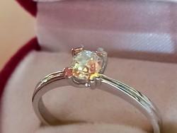 Brilles arany gyűrű 14k