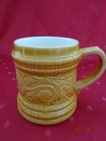 Gránit magyar porcelán, mázas kerámia korsó, átmérője 9,5 cm, magassága 11,5 cm.