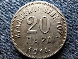 Montenegró I. Miklós (1860-1918) 20 para 1914 (id52288)