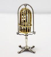 Aranyozott ezüst kalitka miniatűr (ZAL-BI41560)