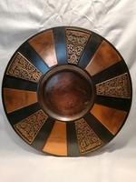 Fémműves iparművész bronz falitál