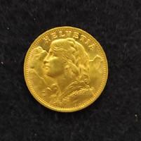 Arany pénz 20 frankos Lajos arany befektetési arany
