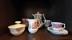 Régi, Német porcelán teás készlet darabjai.