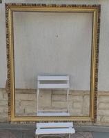 Festmény keret , Hatalmas,laparany ,tükörkeret, széles! Aranyozott dekorációnak, gyüjteménynek,