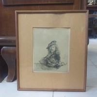 Rembrandt Múzeumi Másolat,Régi Nyomat.Kép.