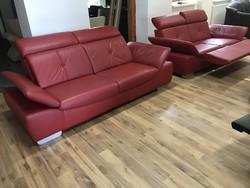 Bőr kanapé relax funkcióval