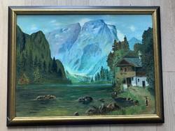 Alpesi táj - Skripek jelzéssel