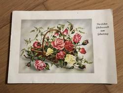 Születésnapi jókívánságok  - 1951 -es képeslap