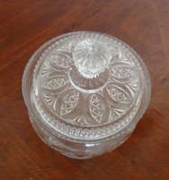 Csiszolt üveg cukortartó