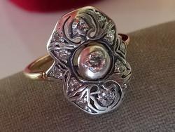 Antik brilles arany gyűrű