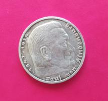 Német h.birodalmi 5 márka (1936 ezüst)