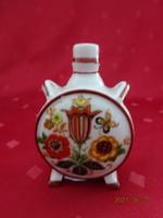 Zsolnay porcelán, antik mini kulacs, Parád fürdő felirattal.